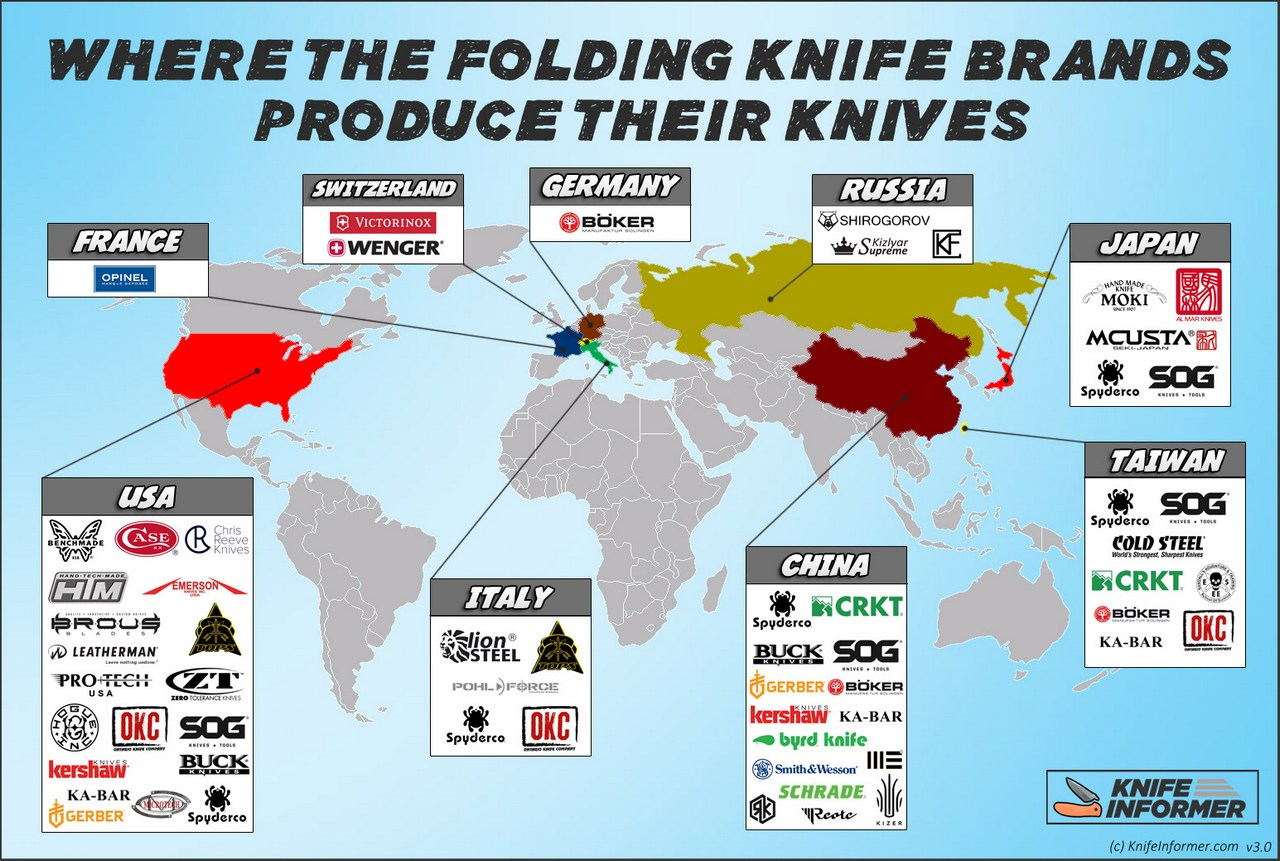 Folding Knife Map